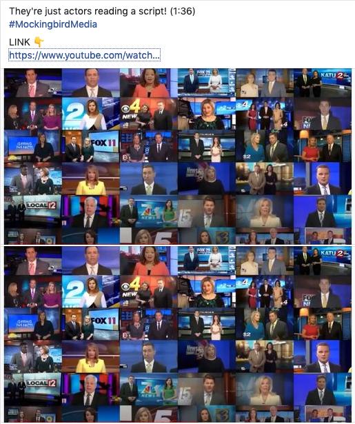 A QAnon Facebook meme mocking the media