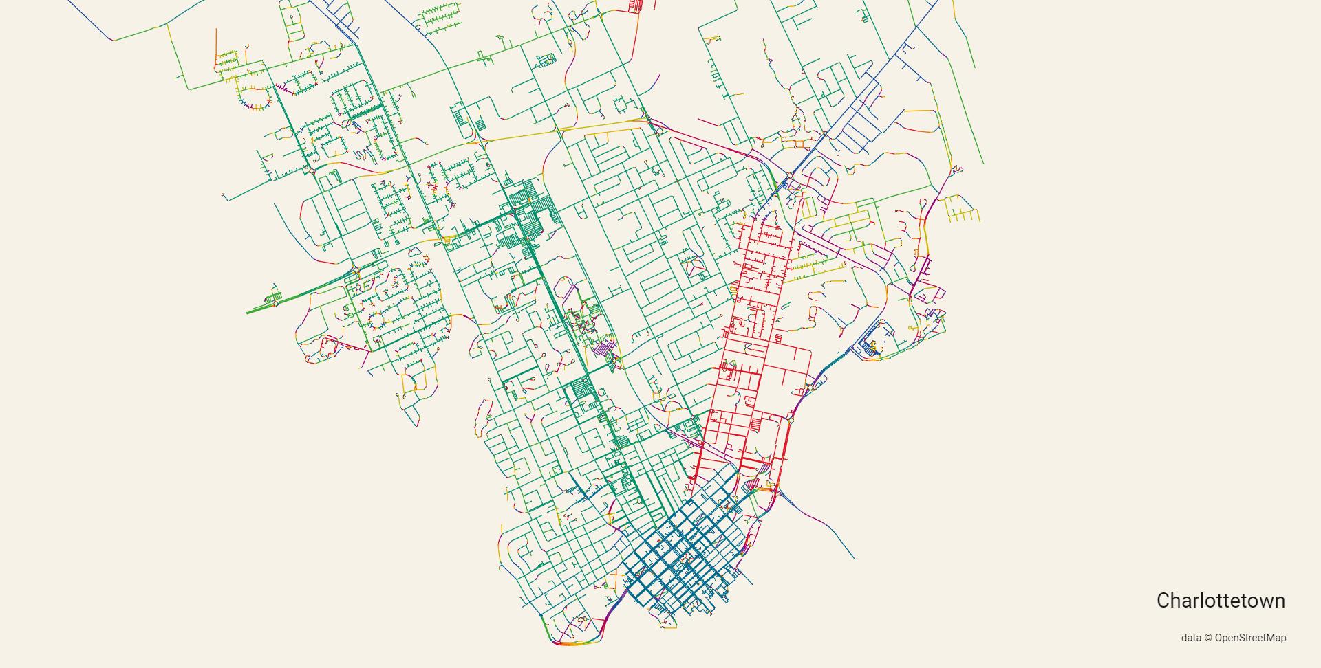 Map of Charlottetown