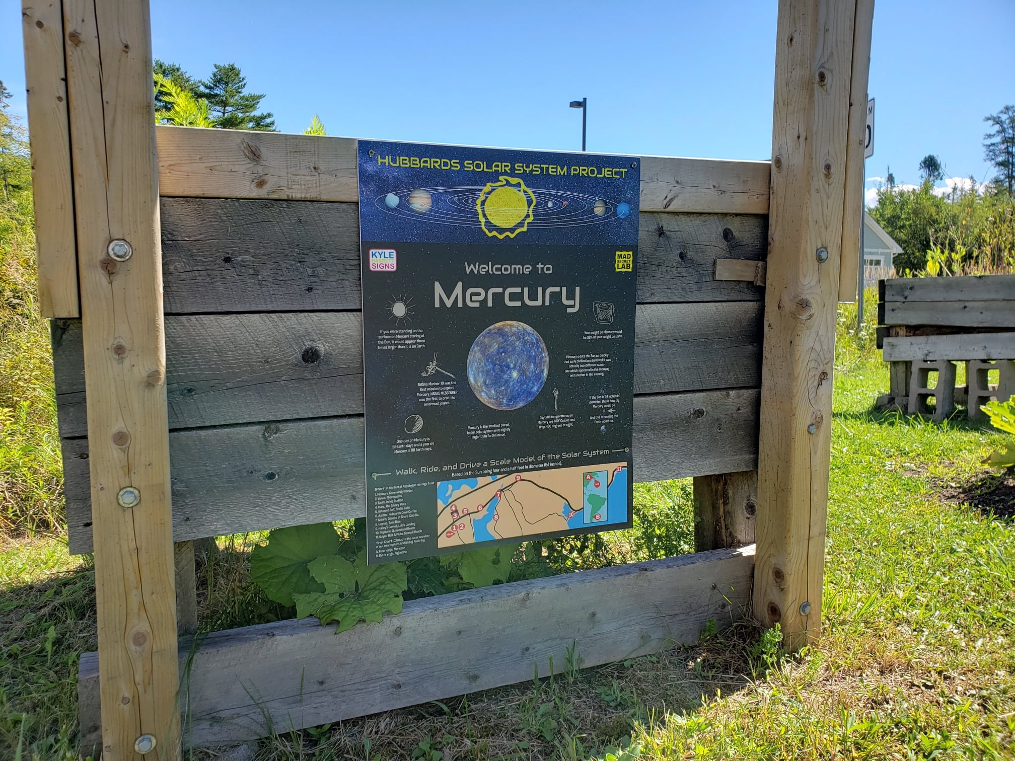 Poster featuring the planet Mercury
