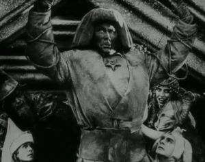 """A black and white still of the Golem from the horror film """"The Golem"""""""