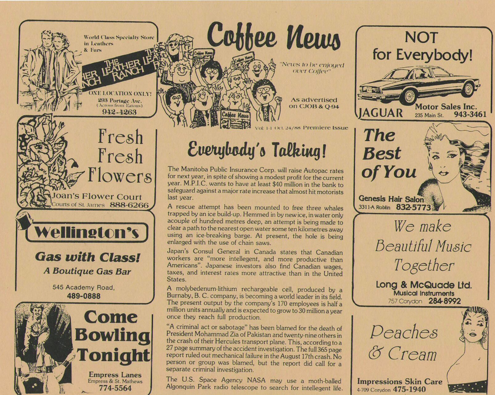 Copy of the publication Coffee News