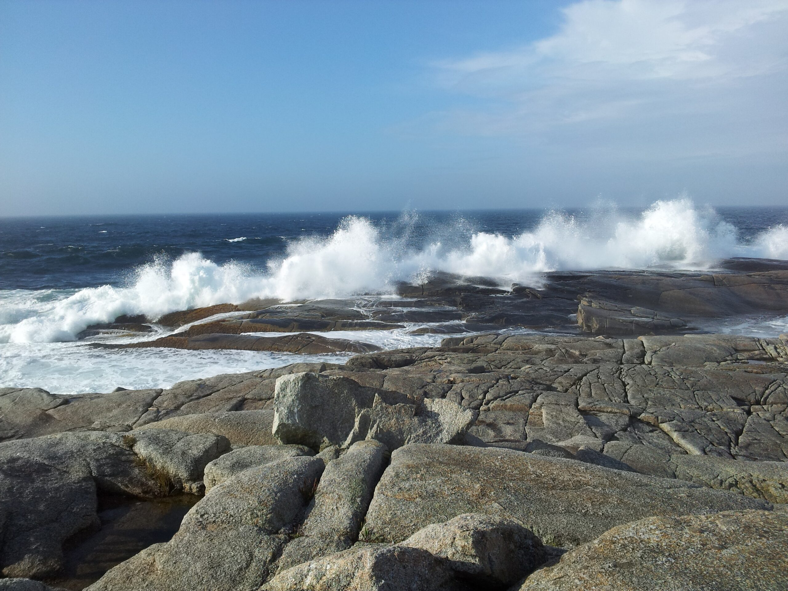 Rocks and pounding waves