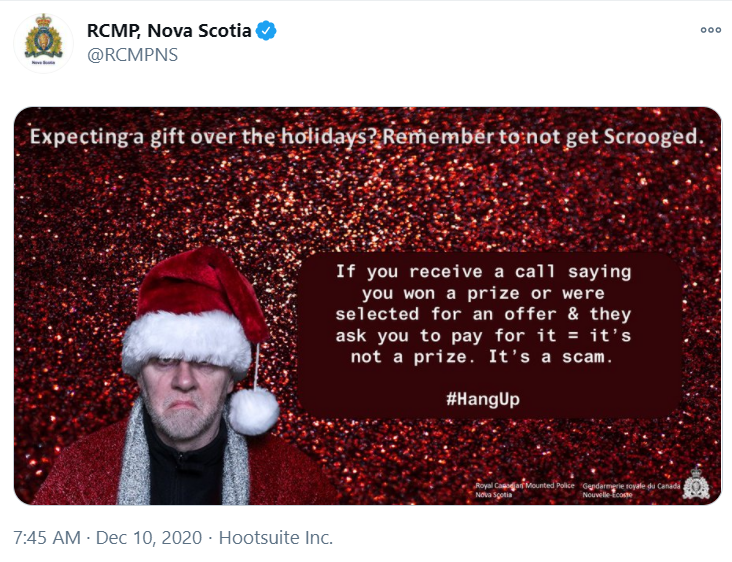 RCMP meme about phone scams