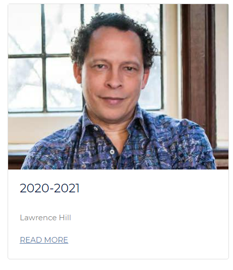 """Picture of Lawrence Hill with """"Read More"""" below the image."""