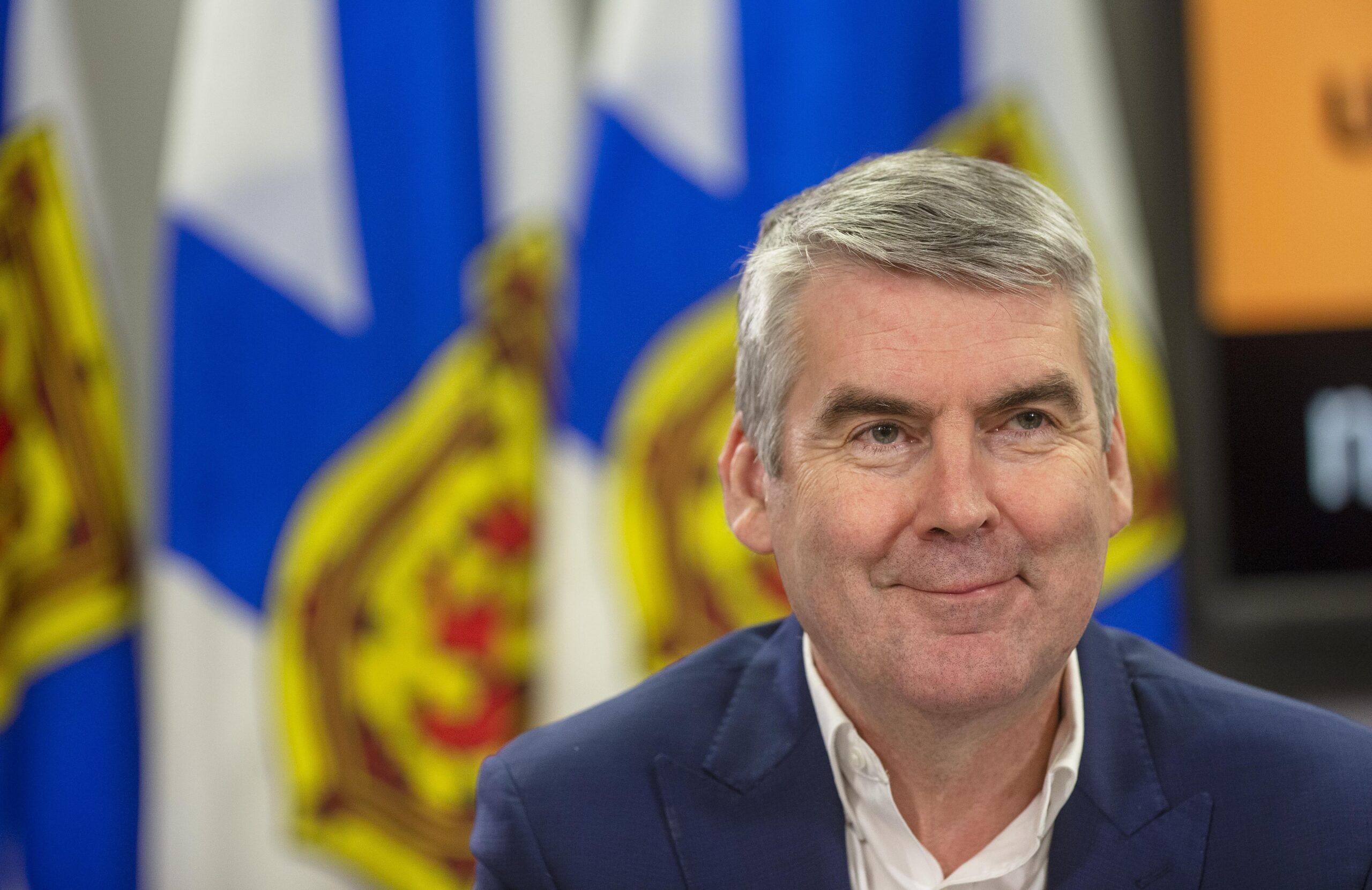 A photo of Stephen McNeil taken in February. He's smiling like the cat that ate the canary.