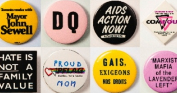 Polite Young Lesbian pinback button