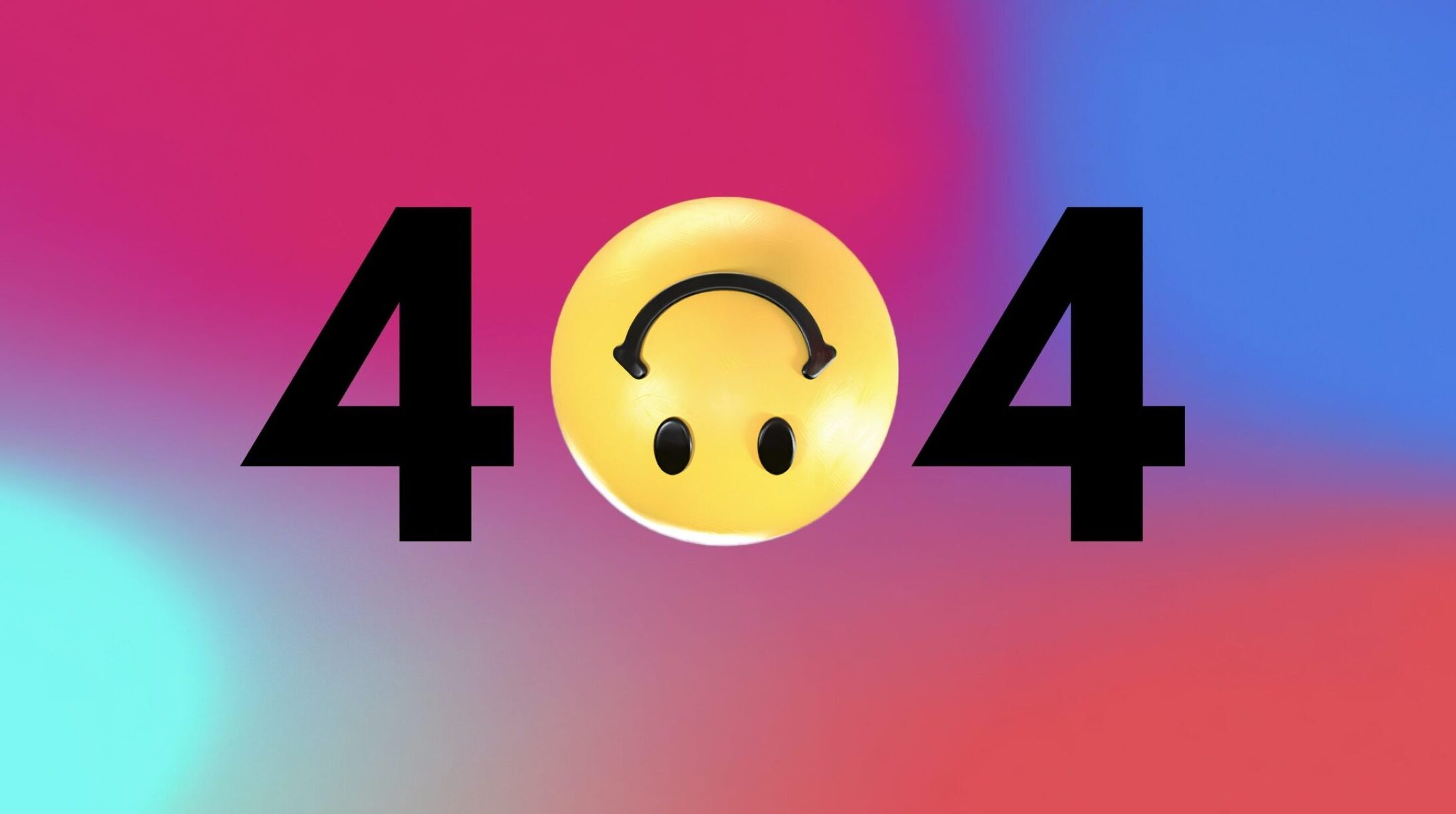 404 with an upside-down smiley for the 0