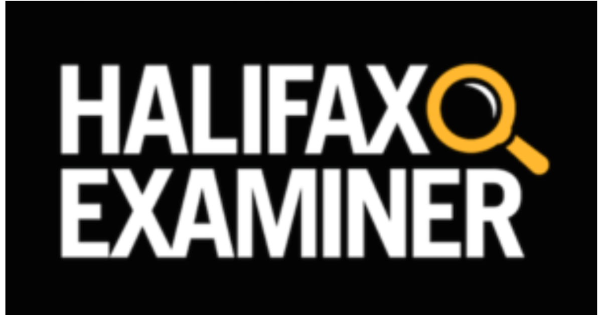 The Halifax Examiner logo, which is Halifax Examiner in capital letters on a black background, with a simple icon of a magnifying glass in yellow.