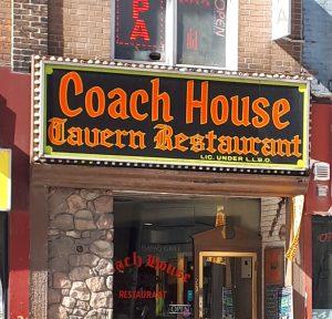Sign saying Coach House Tavern Restaurant