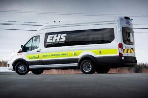 A photo of an EHS ambulance.