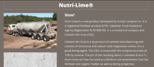 A screenshot of a webpage advertising Nutri Lime, New!