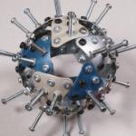Coronavirus made of metal plates