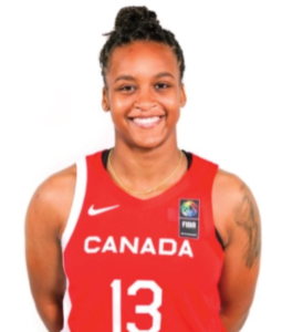 Shay Colley, smiling in her red Team Canada uniform