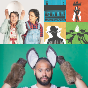 several images from posters for this summer's theatre offerings