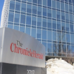 The Chronicle Herald building in winter