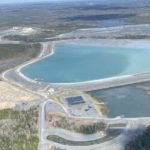 Moose River gold mine tailings pond.