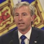 Premier designate Tim Houston speaks at a press conference.