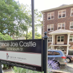 The sign in front of Prince Joe Castle