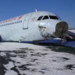 A crashed Air Canada plane.