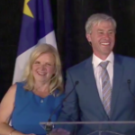 Newly elected premier Tim Houston and his wife Carol Houston