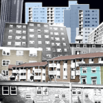 A collage of apartment buildings in HRM
