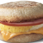 a close up of an Egg McMuffin