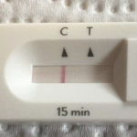 the closeup of a negative home COVID test