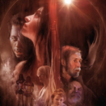 A closeup of the faces depicted in the poster for Tin Can