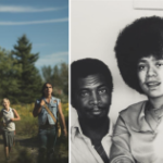 Two of the publicity shots from the FIN Festival, showing two Indigenous boys, and Rocky and Joan Jones