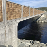 Liscombe River Bridge, with its high solid walls