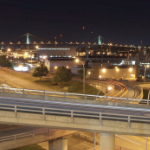 Cogswell Interchange at night
