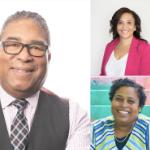 three Black politicians: Tony Ince, Angela Simmonds, and Suzy Hansen