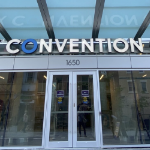 The front door of the convention centre