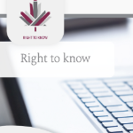 The Right to Know website image, with a maple leaf and a keyboard