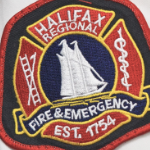 the embroidered logo of the Halifax Regional Fire and Emergency