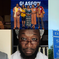 Black News File, Week 12 collage feature photo: Carolann Wright; Glasgow Family on family Feud, Vinessa Antoine, Dwayne Provo, Dawgfather PHD, Springhill Exit 5 sign